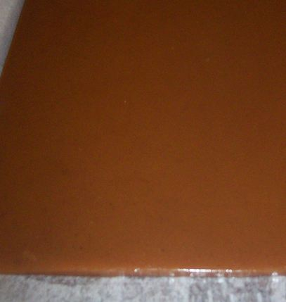 Fresh slab of caramel