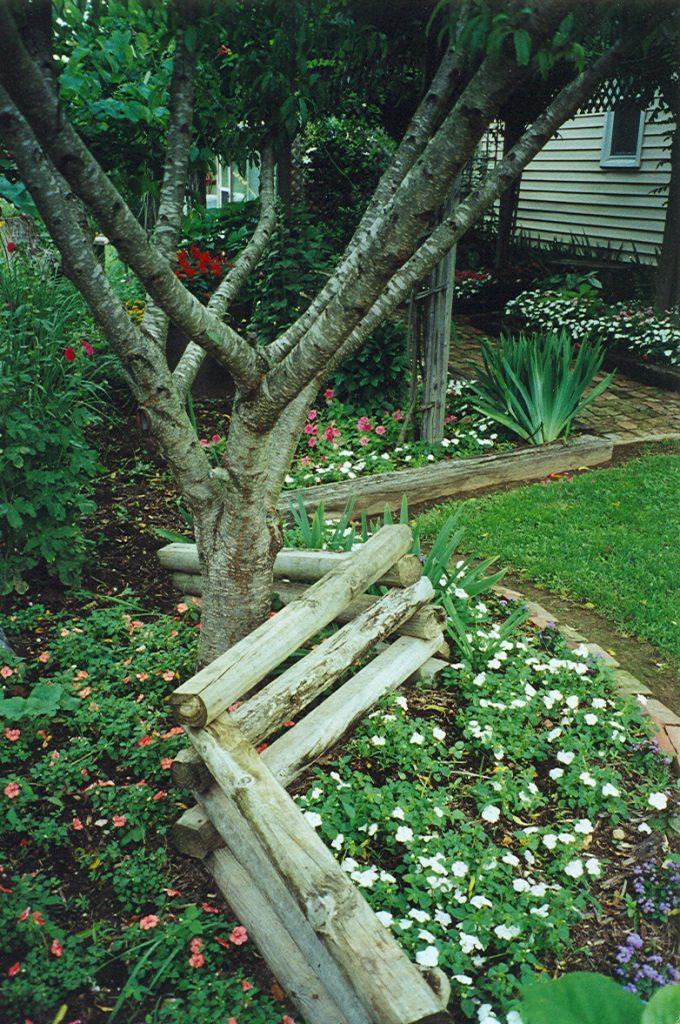 Gardening timbers add visual interest