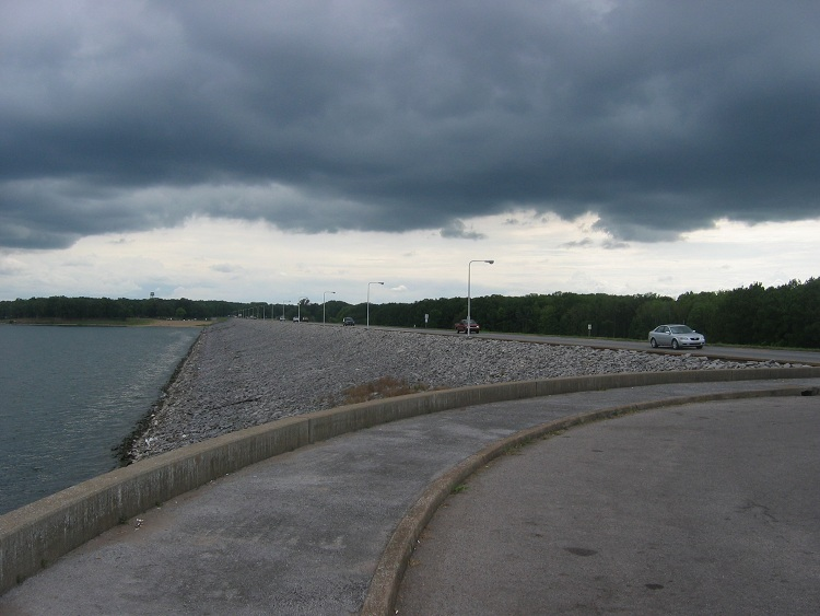 Storm at Kentucky Dam