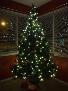 Live Christmas Tree with LED Lighting
