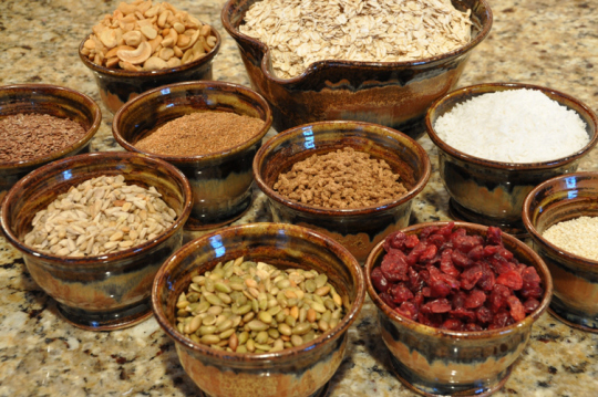 Some granola ingredients