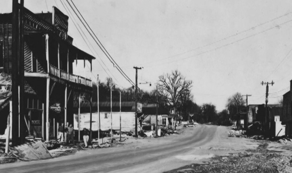 a town in ruin - Kuttawa Kentucky after the 1937 flood