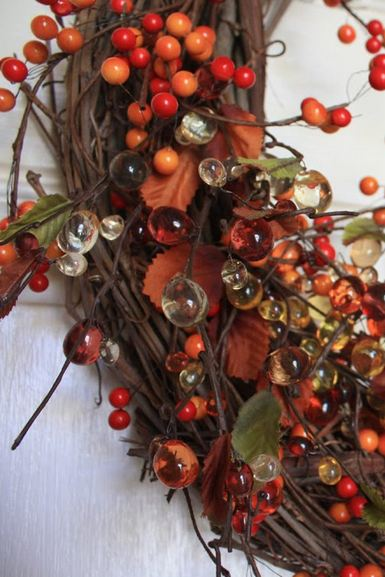 make a homemade grapevine wreath three