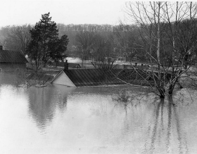 Flooded Kuttawa homes 2-14-1939