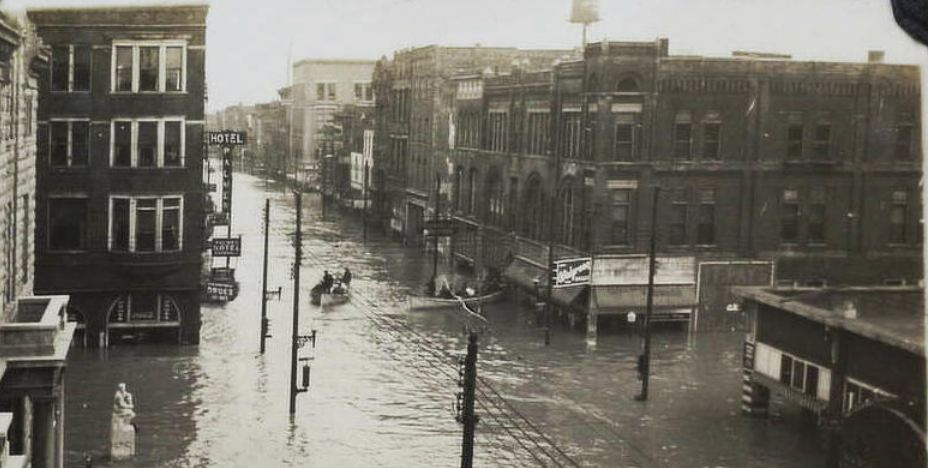 Western Kentucky 1937 Flood Downtown Paducah