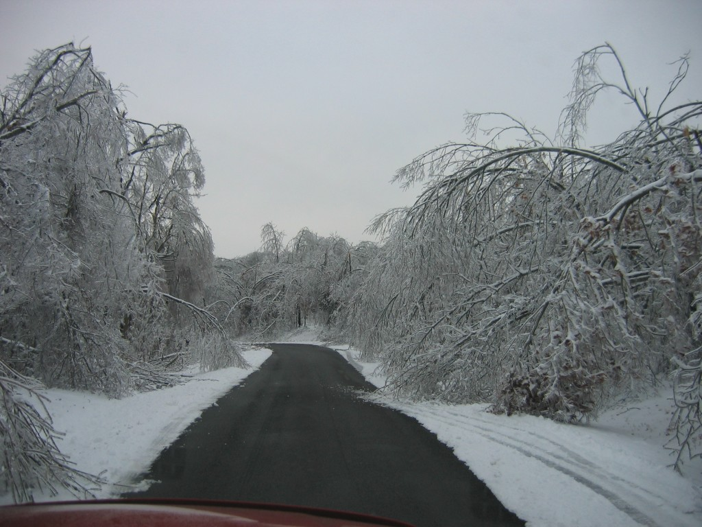 Ice Storm 2009 Panther Creek Road