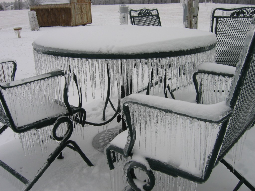 Kentucky's Historic Ice Storm Five Year Anniversary -Patio furniture
