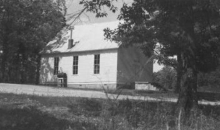Sardis Methodist church between the rivers