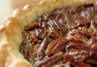 Wade's Wild Turkey Pecan Pie with homemade crust