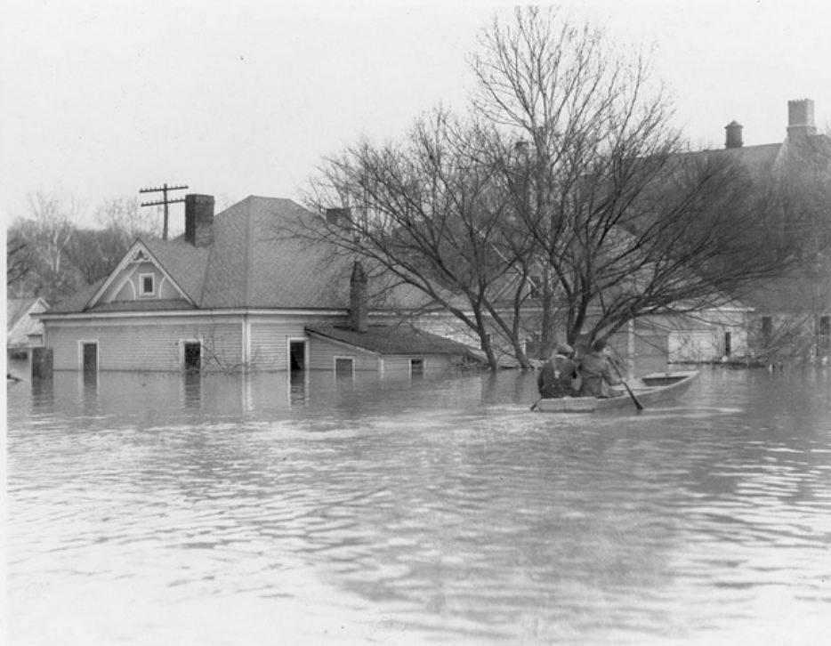 Water Street Old Eddyville February 1937