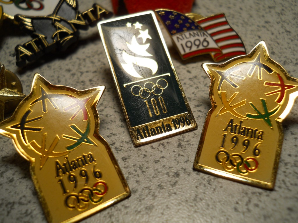 Kentucky Native Helps Land Atlanta Olympics - pins of the 1996 games