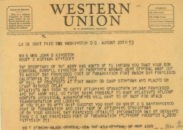 a joyful telegram