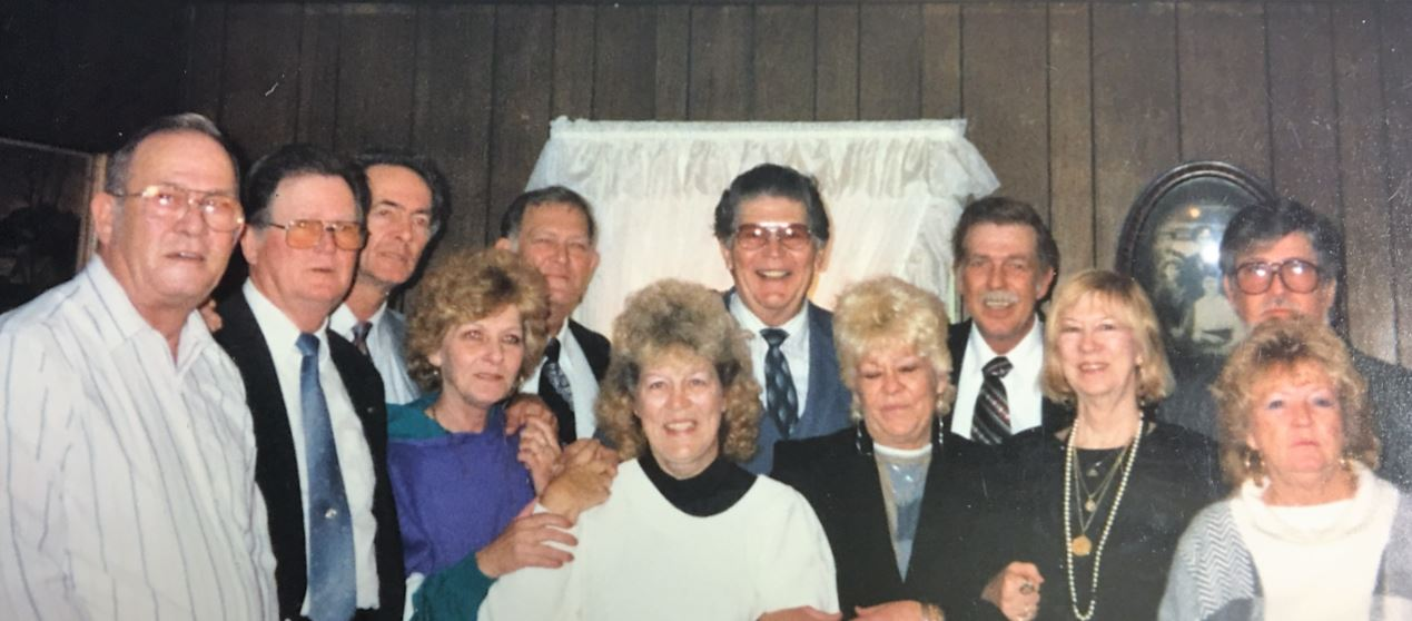 (L to R) J.B., Russell, Johnny, Margie, Eddy, Lena, Tony, Holly, Kinny, Edna, Billy, Ginny